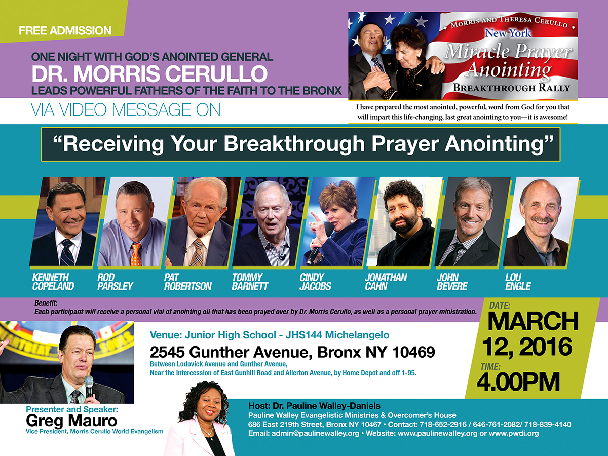 Morris Cerullo World Crusade Coming to the Bronx and hosted by PWEM