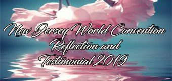 New Jersey World Convention Reflection and Testimonial 2019