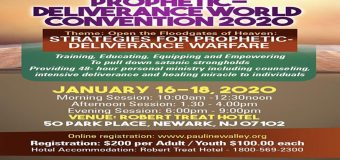 15TH SCHOOL OF DELIVERANCE WORLD CONVENTION 2020