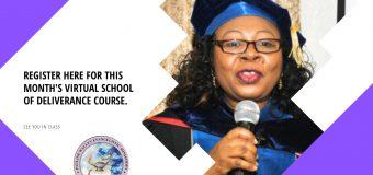 OCTOBER VIRTUAL SCHOOL OF DELIVERANCE COURSE REGISTRATION