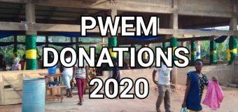 29th December 2020 Donation by PWEM